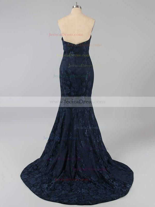 Lace Trumpet/Mermaid Sweetheart Court Train Flower(s) Prom dresses #JCD02016061