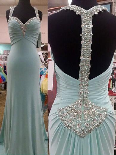 Gorgeous Chiffon Sweetheart with Crystal Detailing Sheath/Column Prom Dress #JCD02019018