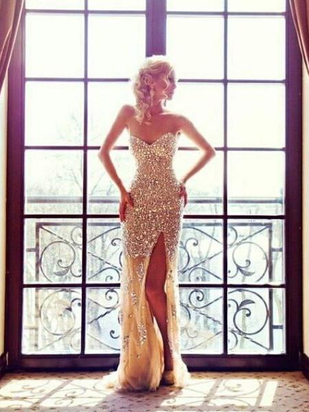 Tulle Trumpet/Mermaid Sweetheart Sweep Train Beading Prom Dresses #JCD02018787