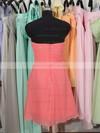 Sweetheart Knee-length Watermelon Chiffon Ruffles Gorgeous Bridesmaid Dress #JCD01012179