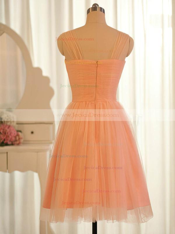 Orange Tulle Ruffles Sweetheart Online Knee-length Bridesmaid Dresses #JCD01012504