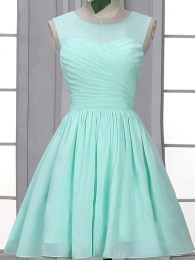 Short/Mini Scoop Neck Ruffles Chiffon Vintage Bridesmaid Dress #JCD01012507