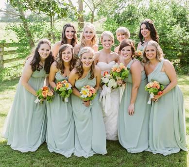 Nicest Empire One Shoulder Chiffon Ruffles Floor-length Bridesmaid Dresses #JCD01012571