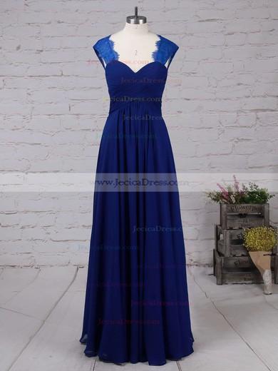 Elegant Sweetheart Ruffles Lace Chiffon Sweep Train Sheath/Column Prom Dress #JCD020102218