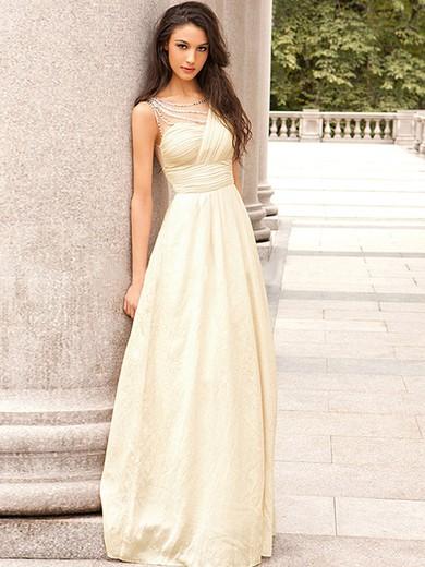 Scoop Neck Floor-length Chiffon with Beading Original Prom Dress #JCD020102326