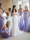 Gorgeous Chiffon Floor-length Ruffles Sweetheart Bridesmaid Dress #JCD01012770