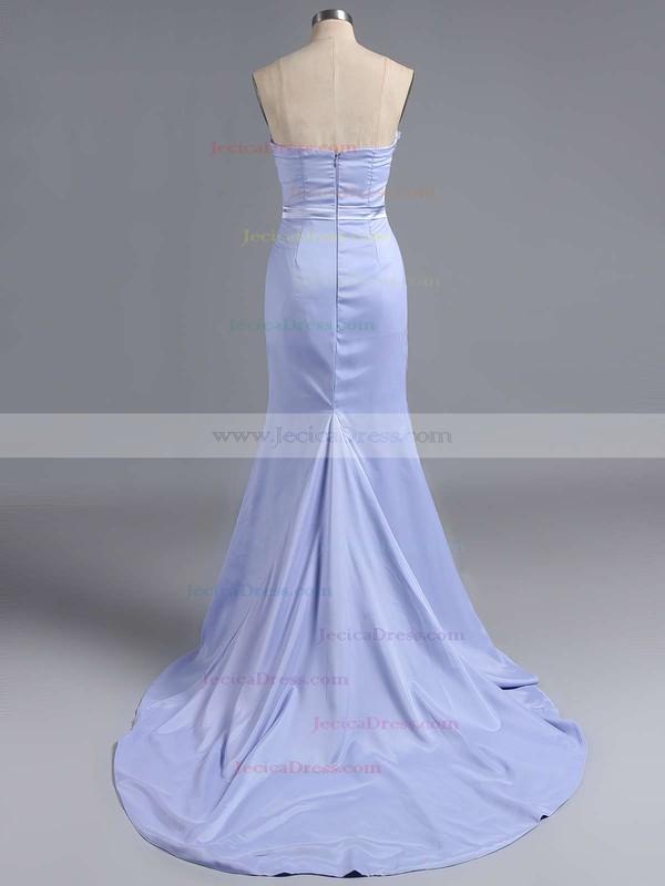 Spring Sweetheart Silk-like Satin Appliques Lace Sheath/Column Bridesmaid Dress #JCD01012786