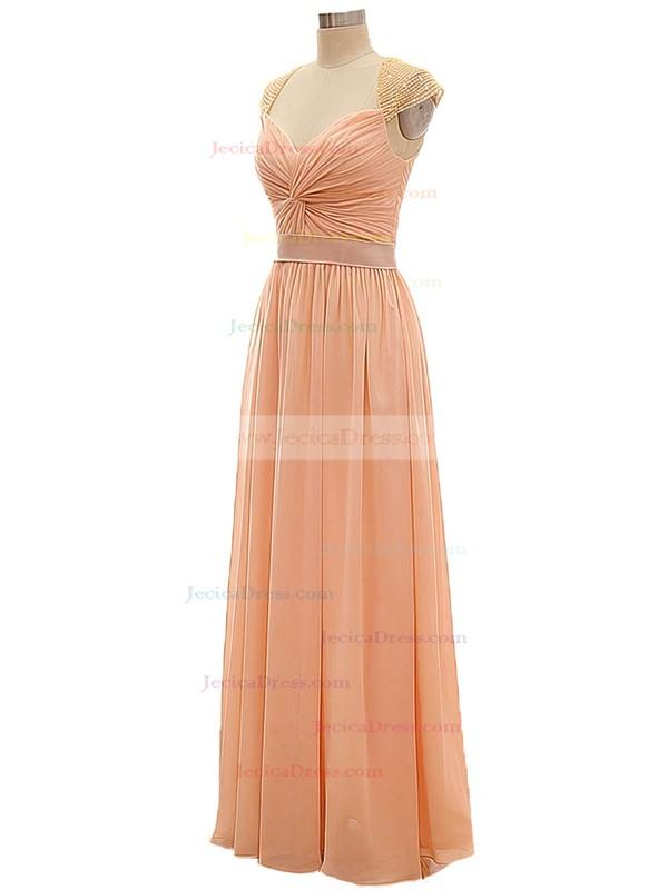 V-neck Chiffon with Criss Cross A-line Girls Bridesmaid Dresses #JCD01012802