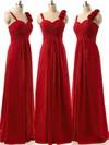 Discounted A-line Sweetheart Chiffon Ruffles Burgundy Bridesmaid Dresses #JCD01012808