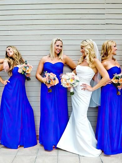 Sweetheart Chiffon Ruffles Perfect Empire Royal Blue Bridesmaid Dresses #JCD01012809