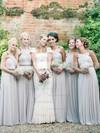 Floor-length Chiffon A-line with Beading Popular Bridesmaid Dresses #JCD01012814