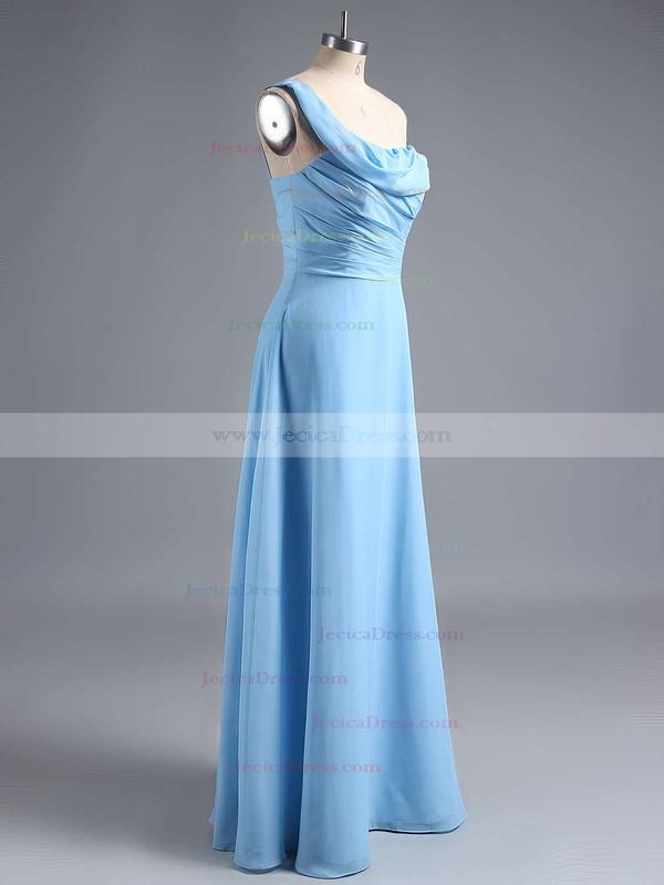 Amazing Ruffles Chiffon One Shoulder Sheath/Column Bridesmaid Dress #JCD01012828
