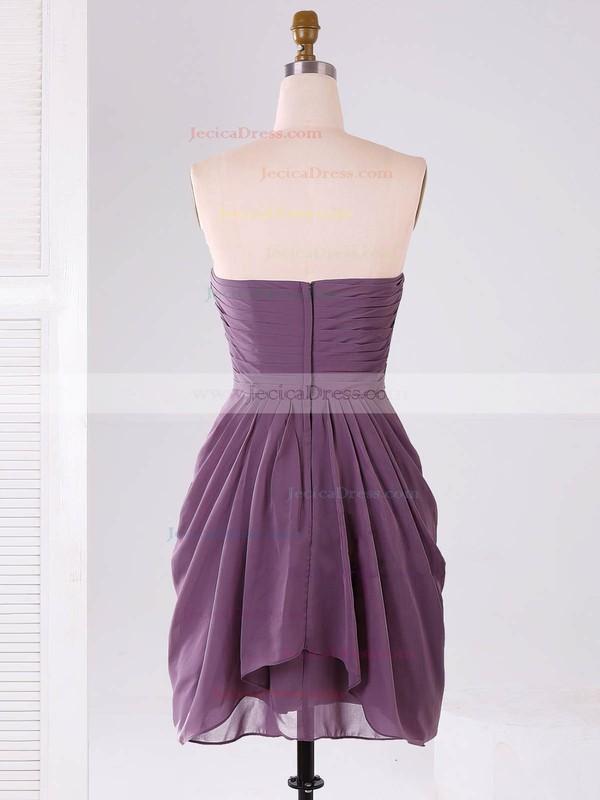 Modest Sweetheart Chiffon Ruffles Short/Mini Bridesmaid Dresses #JCD01012865