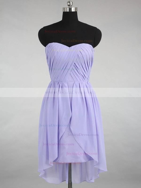 Inexpensive Sweetheart Chiffon Ruffles Asymmetrical Bridesmaid Dresses #JCD01012870