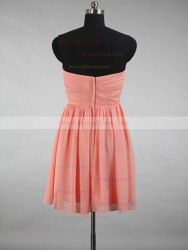 A-line Sweetheart Chiffon Ruffles Simple Short/Mini Bridesmaid Dresses #JCD01012871