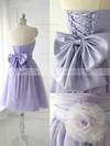 Strapless Satin Tulle Bow Good Lavender Short/Mini Bridesmaid Dress #JCD01012888
