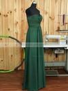 Sweetheart Chiffon Ruffles A-line Amazing Dark Green Bridesmaid Dress #JCD01012894