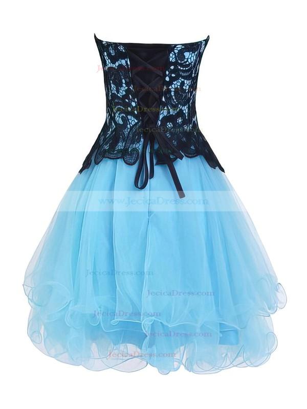 Princess Sweetheart Organza Short/Mini Tiered Nicest Prom Dresses #JCD020102562
