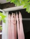 A-line Scoop Neck Chiffon Floor-length Ruffles Sexy Bridesmaid Dresses #JCD01012900