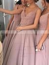 Princess V-neck Satin Floor-length with Beading Stunning Bridesmaid Dresses #JCD01012912