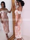 Cute A-line V-neck Tulle Short/Mini Appliques Lace Long Sleeve Bridesmaid Dresses #JCD01012937