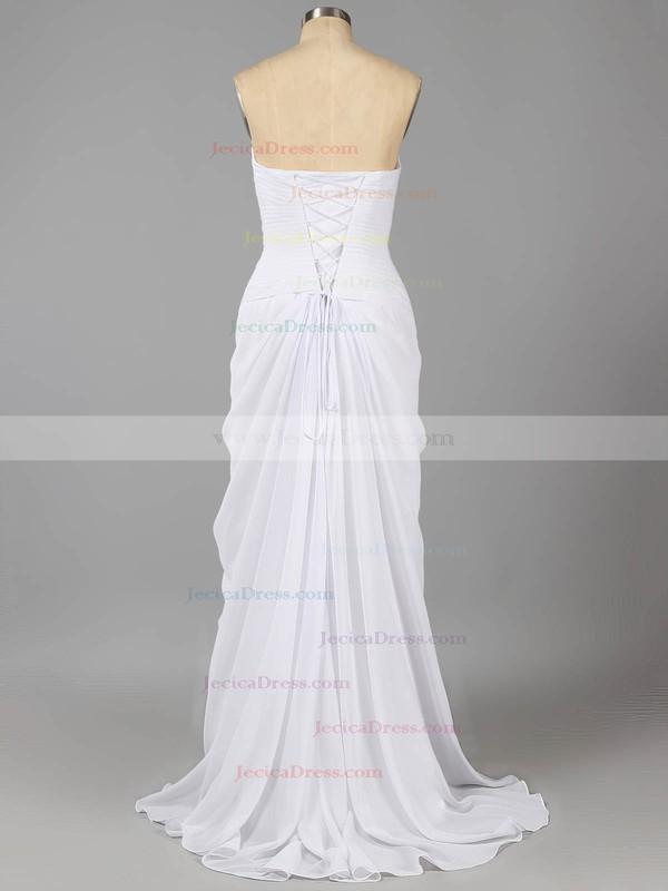 Sheath/Column Sweetheart Chiffon Beading Split Front Online Prom Dresses #ZPJCD02014216