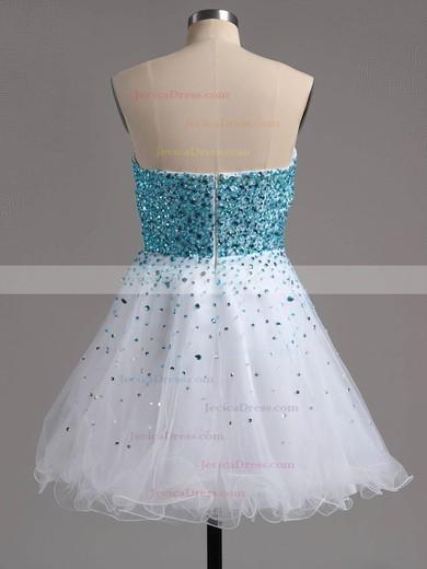 Stunning A-line Sweetheart Tulle Beading Short/Mini Prom Dresses #ZPJCD02016389