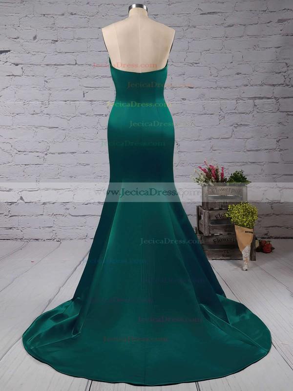 Beautiful Sweetheart Satin with Ruffles Sweep Train Trumpet/Mermaid Prom Dresses #JCD020103517
