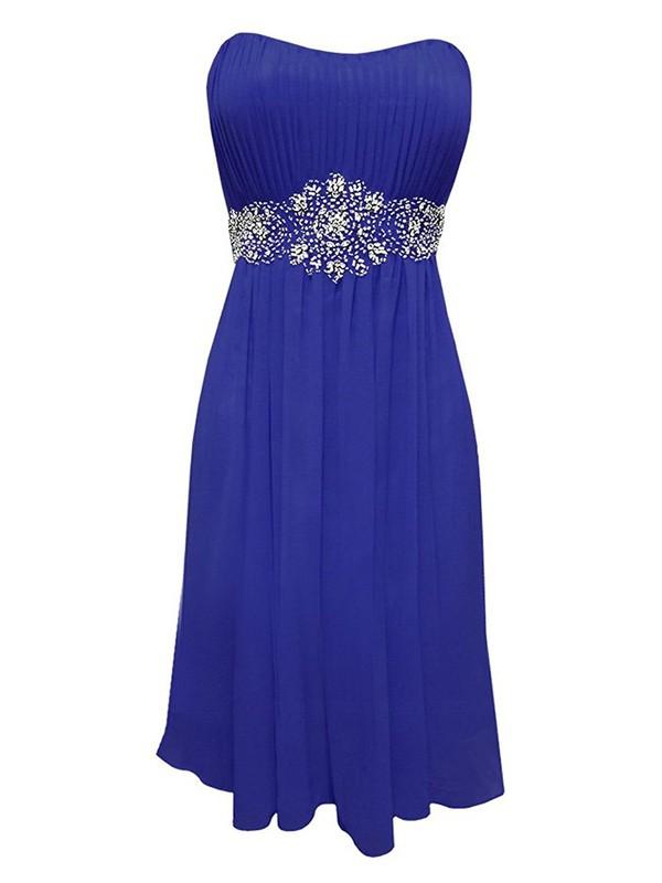 Wholesale Empire Strapless Chiffon with Beading Short/Mini Prom Dresses #JCD020103565
