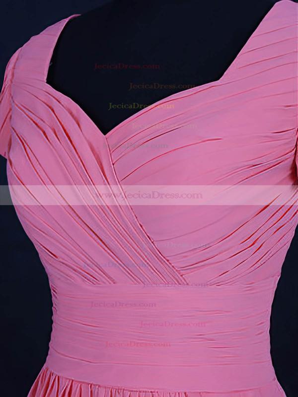 Chiffon A-line V-neck Short/Mini with Ruffles Bridesmaid Dresses #JCD01013120
