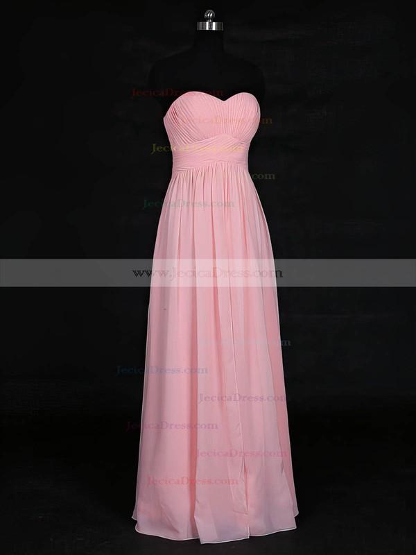 Chiffon Empire Sweetheart Floor-length with Ruffles Bridesmaid Dresses #JCD01013121