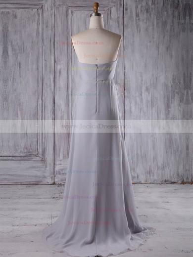Chiffon Empire Sweetheart Sweep Train with Beading Bridesmaid Dresses #JCD01013210