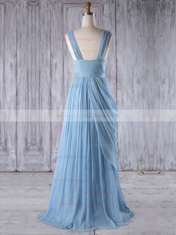 Chiffon A-line Sweetheart Floor-length with Ruffles Bridesmaid Dresses #JCD01013237