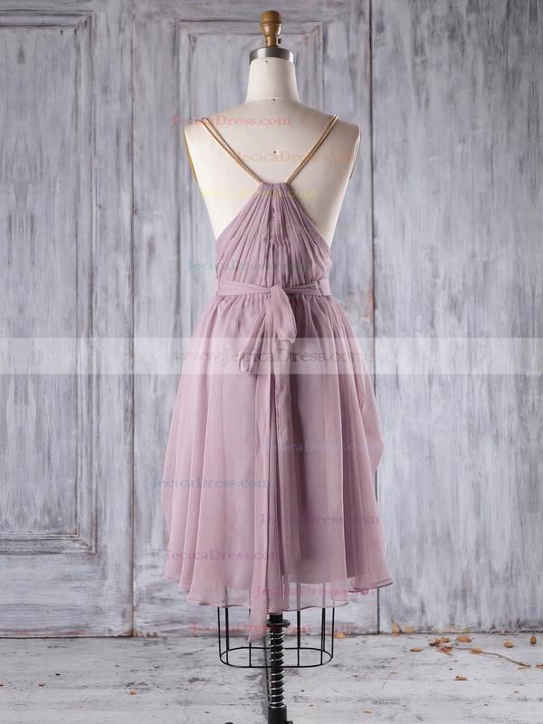 Chiffon A-line V-neck Short/Mini with Sashes / Ribbons Bridesmaid Dresses #JCD01013242
