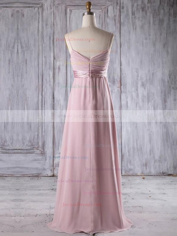 Chiffon Empire V-neck Floor-length with Flower(s) Bridesmaid Dresses #JCD01013253