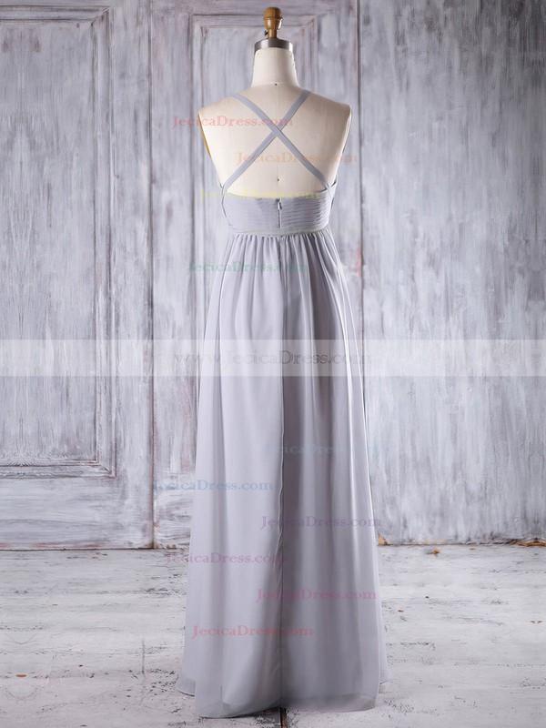 Chiffon Empire Sweetheart Floor-length with Ruffles Bridesmaid Dresses #JCD01013258