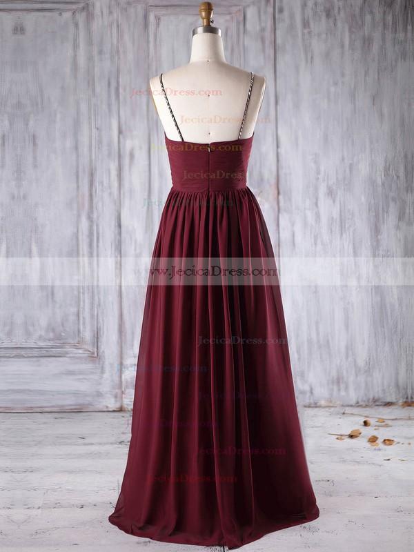Chiffon Empire Sweetheart Floor-length with Beading Bridesmaid Dresses #JCD01013270