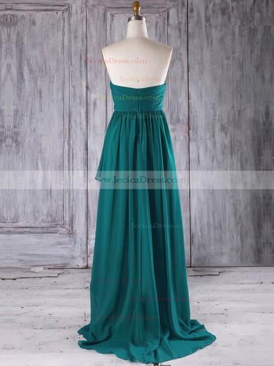 Chiffon A-line Sweetheart Asymmetrical with Ruffles Bridesmaid Dresses #JCD01013272