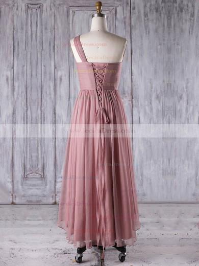 Chiffon A-line One Shoulder Asymmetrical with Ruffles Bridesmaid Dresses #JCD01013274