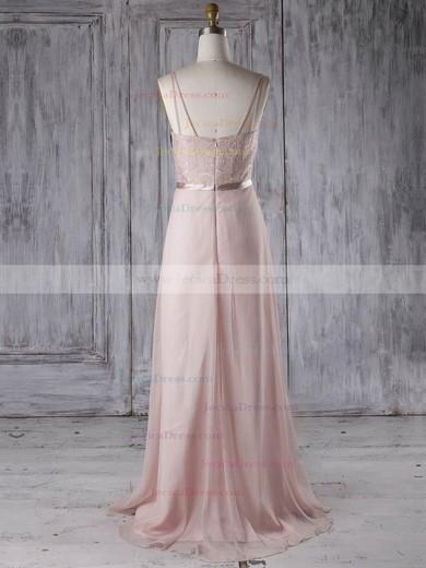 Chiffon A-line Sweetheart Sweep Train with Sashes / Ribbons Bridesmaid Dresses #JCD01013285