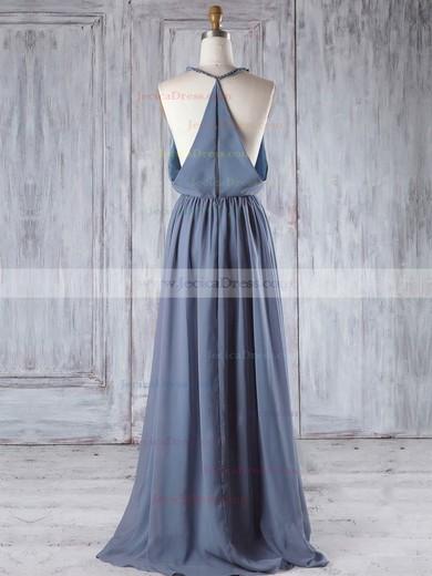 Chiffon A-line V-neck Floor-length with Ruffles Bridesmaid Dresses #JCD01013293