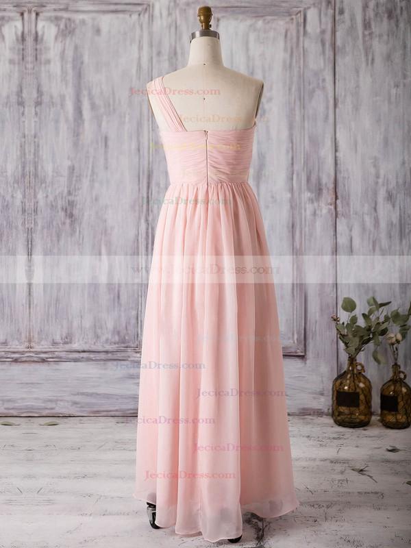 Chiffon A-line One Shoulder Asymmetrical with Split Front Bridesmaid Dresses #JCD01013367