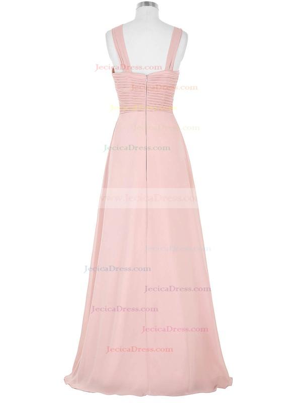 Chiffon A-line Sweetheart Floor-length with Pleats Bridesmaid Dresses #JCD01013395
