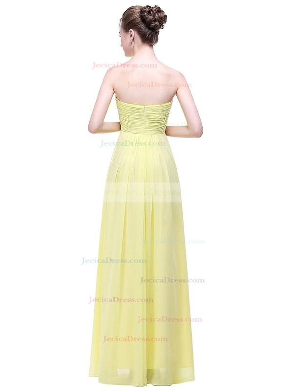Chiffon Empire Sweetheart Floor-length with Ruffles Bridesmaid Dresses #JCD01013449