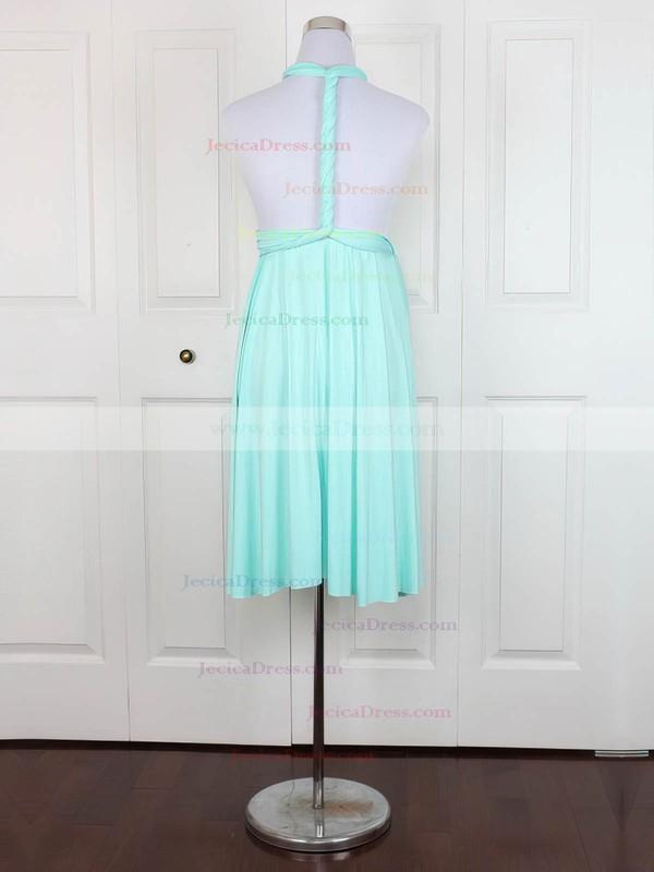 Jersey Empire V-neck Short/Mini with Ruffles Bridesmaid Dresses #JCD01013138