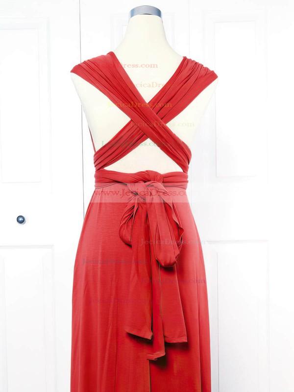 Jersey Empire V-neck Short/Mini with Ruffles Bridesmaid Dresses #JCD01013161