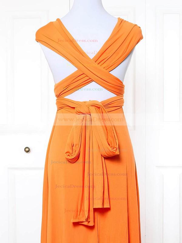 Jersey Empire V-neck Short/Mini with Ruffles Bridesmaid Dresses #JCD01013163