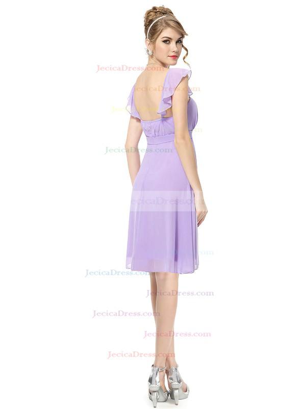 Chiffon Empire Square Neckline Short/Mini with Ruffles Bridesmaid Dresses #JCD01013392