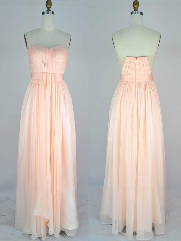 Chiffon A-line Sweetheart Floor-length with Ruffles Prom Dresses #JCD020104232