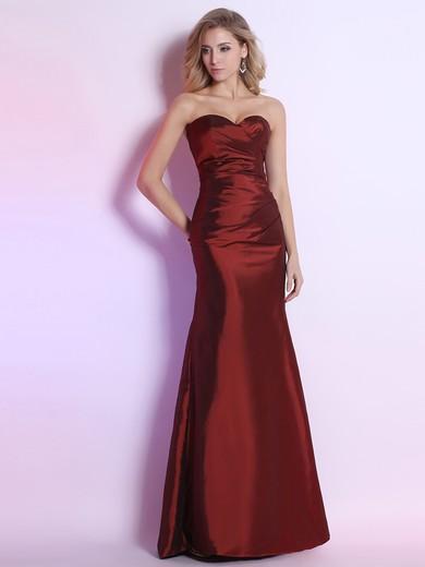 Modern Burgundy Sweetheart Taffeta with Flower(s) Trumpet/Mermaid Prom Dresses #JCD02014303